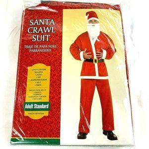 Santa Suit Jacket Hat Belt Pants Beard Moustache